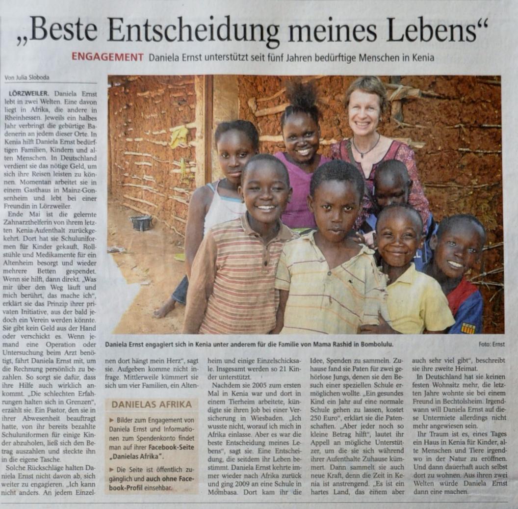 Artikel in der AZ Mainz